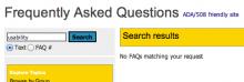 CMS FAQ - Where is usability?